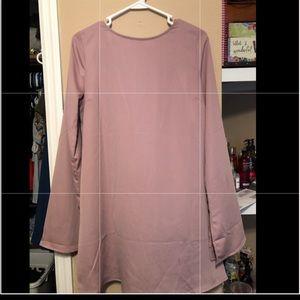 blush pink dress (knee length)
